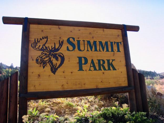 16. Summit Park Sign