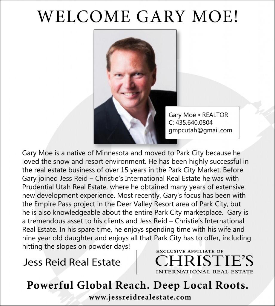 Welcome Gary Moe