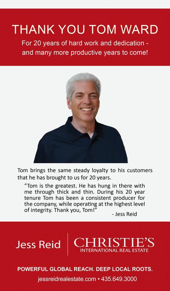 Tom Ward Anniversary Ad New